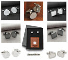 Personalized LEATHER WALLET / MONEY CLIP & CUFF LINK SET CREDIT CARD ID HOLDER