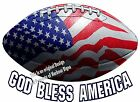 Football DECAL (Choose Your Size) Patriotic Vinyl Window Car Boat Trailer