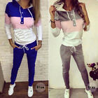 Sexy Women Sports Tops Sweatshirt+ Pants Track Sweat Suits Casual Tracksuit Set
