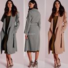Fashion Women Ladies Parka Overcoat Jacket Long Sleeve Trench Coat with Belt New