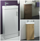 Bathroom Cabinet Vanity Unit & Basin Sink Cloakroom Floor Standing Furniture