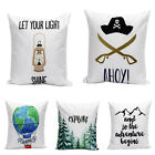 Cotton Linen Pillow Case Words Pattern Cushion Cover Sofa Bed Car Home Xmas Gift