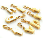 John Wind Charm for Bracelet Gold Inspired Initial Bracelet Jewelry New