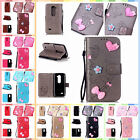 For LG Leon 4G LTE C40 H340N Finished DIY Case Anti-lost Strap PU Leather Cover