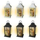 LARGE INDOOR OUTDOOR LED LANTERN GARDEN CANDLE BATTERY OPERATED FLICKER FLAME