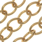 Vintaj Vogue Bulk Chain, Rounded Oval Cable Links 8.7mm, Sold By The Foot, Brass