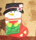 DECEMBER HOME SNOWMAN HOLDING AN ENVELOPE TO SANTA CHRISTMAS STOCKING