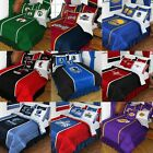 NBA BASKETBALL BEDROOM SET - Sports Logo Bedding Comforter Sheets Shams Drapes