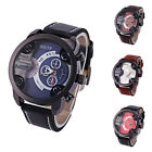 Men Fashion Watches Stainless Steel Leather Quartz Analog Sport Wrist Watch JYL
