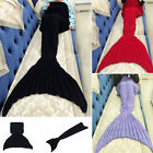 Knitted Mermaid Tail Blanket For Adult and Child ,Fashion Sleeping Bag 3 colors