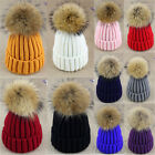 Winter Lady Braided Crochet Wool Knit Beanie Ski Ball Cap Baggy Warm One Size