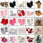Newborn Baby Infant Toddler Boy Girl Lace Snow Boots Crib Shoes Prewalker Warm