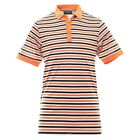 Callaway Moisture Wicking Opti-Dri Golf Shirt Orange Grey Black Stripe Large New