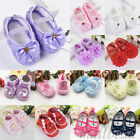 Lovely Newborn Infants Baby Girl Soft Crib Shoes Moccasin Prewalker Sole Shoes