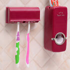 NEW Wall Mount Rack Automatic Toothpaste Dispenser Toothbrush Holder Stand