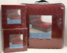 Vera Wang LINKS Quilted COVERLET Quilt - KING or QUEEN - Geometric RED *NEW*