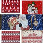 DELUXE FESTIVE CHENILLE PLACEMATS CHOICE 4 COOL DESIGNS XMAS TABLE DECORATION