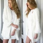Elegant Long Sleeve Warm in Winter Womens Faux Fur Coat Jacket Parka TXST