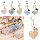Romantic Key Chain Love Heart Pendant Rhinestone Key Finder Keyring Girl TXST