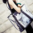 New Women's Fashion  PVC Jelly Shoulder Bag 2 in 1 Handbag Clear Transparent Bag