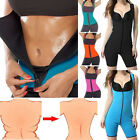 EXTREME Black slimming body thermo cami hot pants Neoprene shaper Vest Sweat US