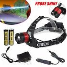 5000lm CREE XM-L T6 LED 18650 Adjustable Focus Headlight Torch Zoomable +Charger