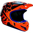 Fox Racing MX Off-Road V1 Race Helmet Orange/Blue YOUTH sizes