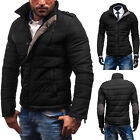 Mens Winter Warm Thick Padded Slim Collar Jacket Coat Parka Winter Outwear Tops
