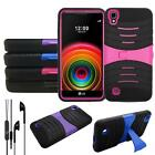 For Straight Talk LG X Stylo Phone Case Heavy Duty Cover Earphone Earbuds w/ Mic