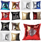 2016 Reversible Sequin Mermaid Glitter Sofa Cushion Cover Pillow Case Home Decor
