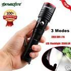 CREE T6 LED Torch Zoom Militär 5000LM Flashlight FREE 18650&Charger&keychain&Box
