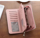 Fashion Women PU Leather Simple Clutch Wallet Handbag Money Clip Purse Holder