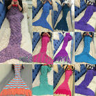 Womens Crocheted Mermaid Tail Blanket+Knitting kids&Adult Sofa Sleeping Bag New