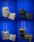 "New 2in1 Deluxe 38"" Makeup Artist Rolling Aluminum Train Case Box-Choose"