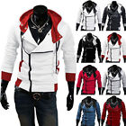 Stylish Cool Creed Hoodie Men's Cosplay For Assassins Slim Jacket Costume XS-4XL