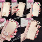 Bling 3D Handmade Diamonds TPU Ultra Soft Thin Clear Gel Case Cover For iPhone