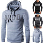 Stylish Men Winter Hoodie Warm Hooded Letter Sweatshirt Coat Casual Outwear new