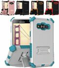 FOR SAMSUNG GALAXY PHONES RUGGED CASE TRI-SHIELD HEAVY DUTY COVER+GLASS FILM
