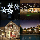 Snowflake Moving Sparkling LED Landscape Laser Projector Wall Xmas Lights Lamp n