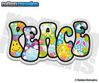 Peace Psychedelic Decal World Hippie Love Happiness Gloss Vinyl Sticker NO6