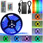 5m-20m 3528/5050 Smd Rgb Led Strip Remote Controller Lights Waterproof Kit Xmas