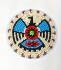 HANDMADE BEADED NATIVE STYLE INSPIRED CRAFT APPLIQUE,PATCH фото