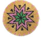 HANDMADE NATIVE STYLE NEW BEADED CRAFT APPLIQUE PATCH ROSETTE 2.5 INCH