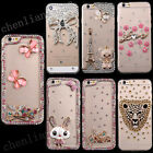 For Mobile Phone Handmade Diamonds TPU Ultra Soft Thin Clear Gel Case Cover