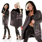 WoW Miss Charm Mega Kapuzen Long Strick-Jacke Neu