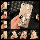 Handmade Diamonds Flower Ultra Thin TPU Soft Back Case Cover For Huawei #2