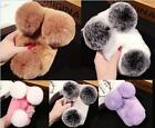 Panda Super Luxury Warm Soft Rabbit Fur Case Cover for iPhone 5 S 6 7 SE Plus