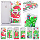 Christmas Gift Xmas Quicksand Plastic Shell Case Cover for iPhone Samsung Phone