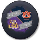 Auburn Tigers & LSU Tigers House Divided Exact Fit Black Vinyl Spare Tire Cover