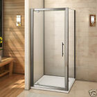 New Pivot Hinge Shower Door Enclosure Walk in 6mm Tempered Glass Screen Cubicle